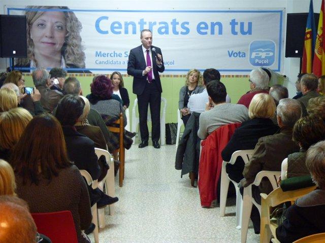 Fabra en un encuentro del PP en Puçol