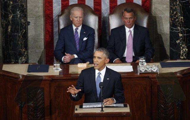 U.S. President Barack Obama discurso Estado de la Union Congreso