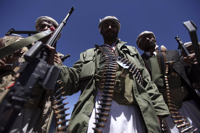 Milicianos en Yemen