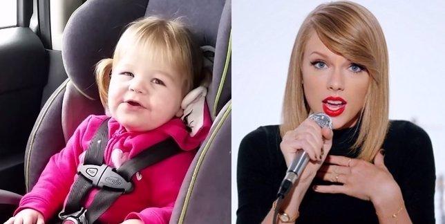 Niña canta el Shake it off de Taylor Swift