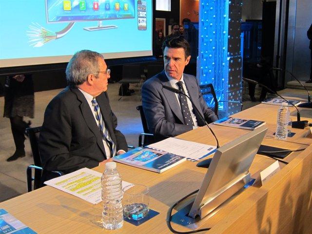 César Alierta (Telefónica) junto con el ministro de Industria, José Manuel Soria