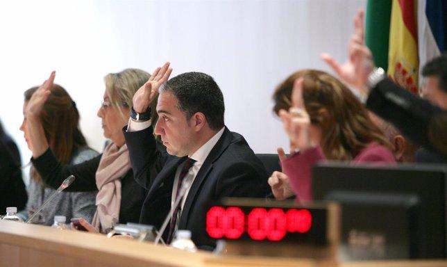 Elías Bendodo, presidente Diputación Málaga, pleno
