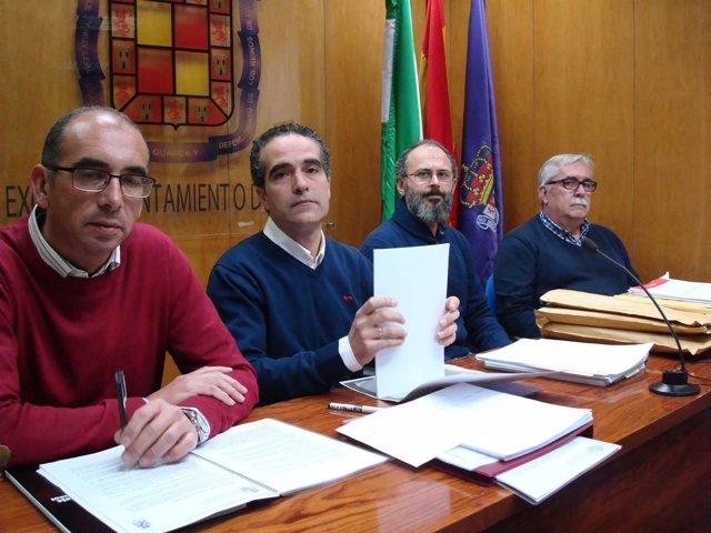El presidente de Epassa (2i), Juan José Jódar, en la rueda de prensa.