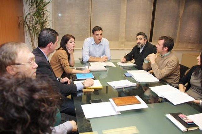 Reunión en Ferraz para preparar las elecciones municipales