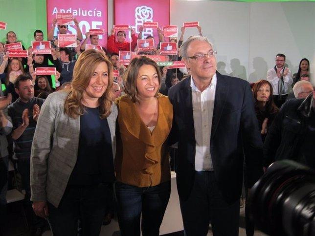 Díaz, con Ambrosio y Juan Pablo Durán