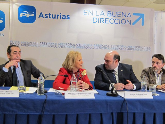 Fernando Goñi, Mercedes Fernández, Agustín I. Caunedo y Matías Feito