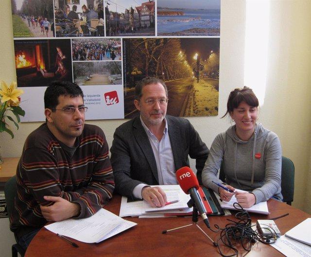 Los concejales de IU en el Ayuntamiento de Valladolid