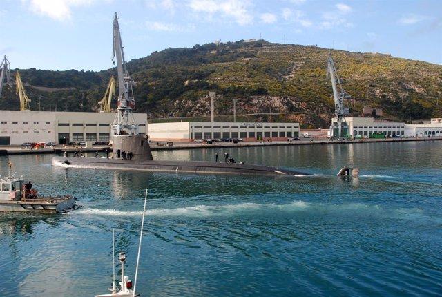 """El Submarino español """"Tramontana"""", modelo S-74"""
