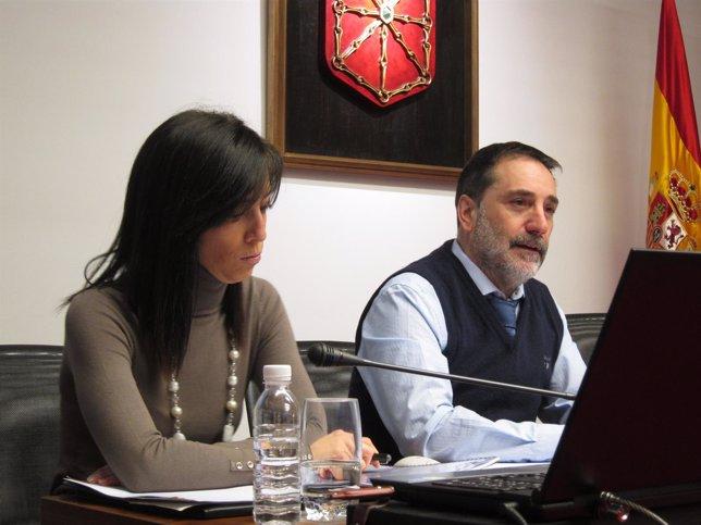 Helio Robleda en el Parlamento de Navarra.