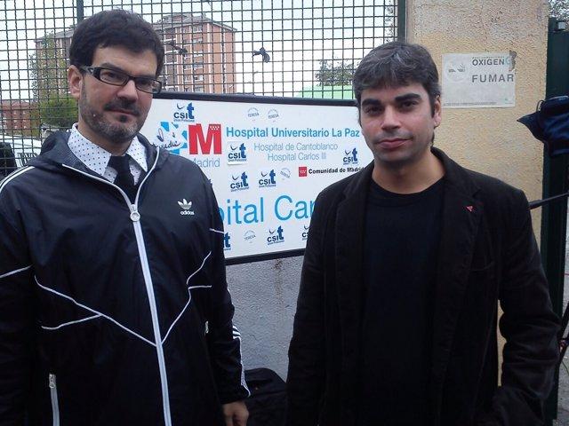 Eddy Sánchez y Jorge García Castaño (IU)