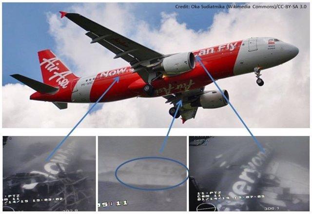 Partes del fuselaje del avión de AirAsia