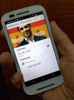 Serna (UPyD) habilita una línea WhatsApp para contestar personalmente