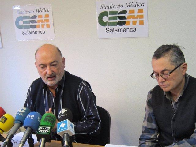 Los Representantes De CESM En Salamanca, Jesús Arcaya Y Kenneth Thompsom