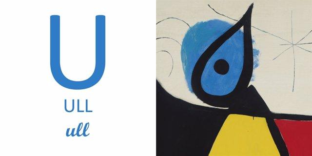 Una de las páginas del 'Abecedario Miró'