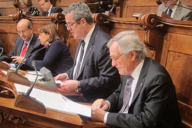 Xavier Trias en el pleno del Ayuntamiento.
