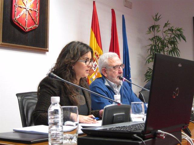 María Isabel García Malo en el Parlamento de Navarra.