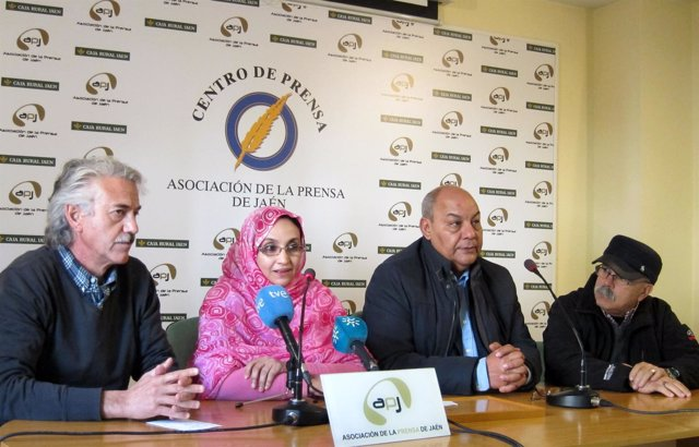 Haidar (2i), junto a Heredia, Bucharaya y Gutiérrez en la rueda de prensa.