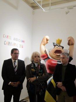 Pulido (izquierda) y Martínez en la inauguración de la exposición