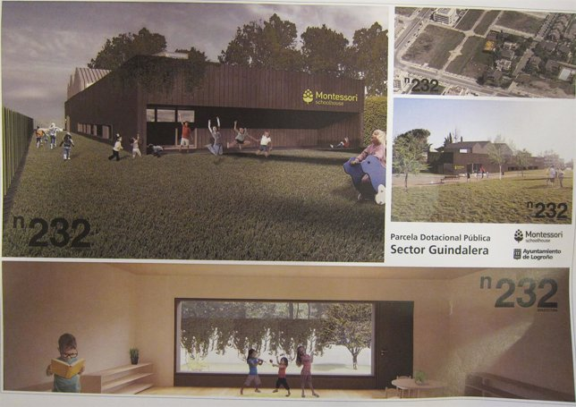 Plano del colegio Montessori de Logroño