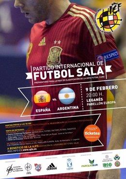 Partido Fútbol Sala España-Argentina