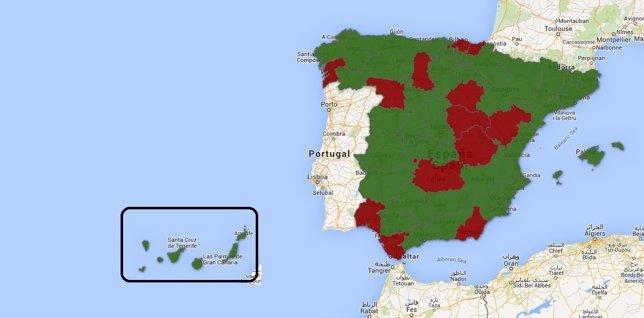 Provincias bajó el paro
