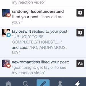reacción de Taylor Swift