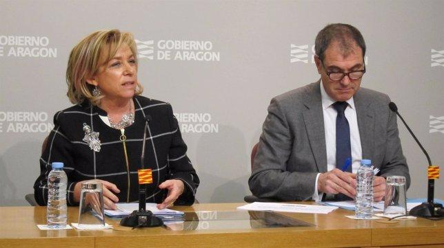 Dolores Serrat y Marco Rando, responsables de Educación en Aragón