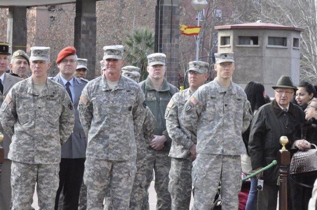 Militares norteamericanos, de Francia y Portugal en el aniversario de la BRILOG.