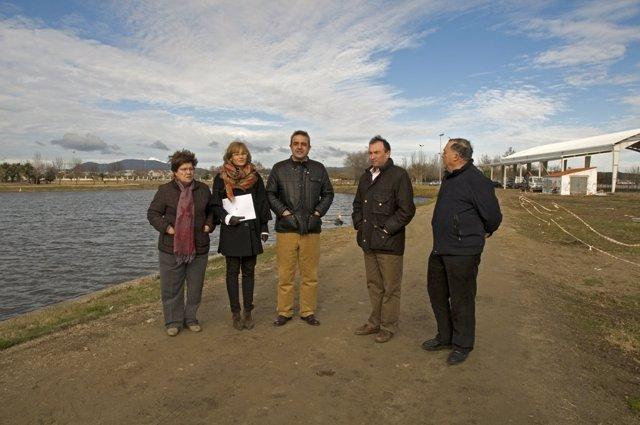 El presidente de la Diputación de Cáceres visita Miajadas