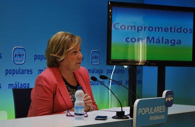 Celia Villalobos en rueda de prensa en málaga PP