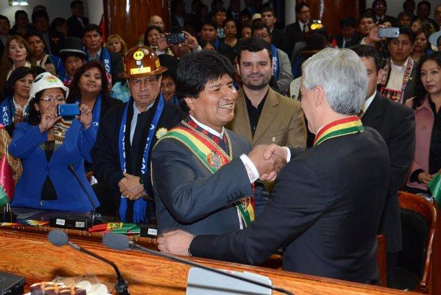 Evo Morales jura el cargo como presidente de Bolivia