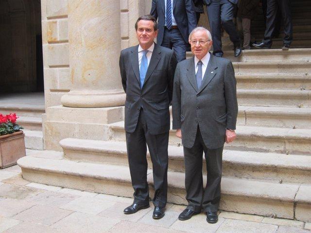 Sixte Cambra (Puerto de Barcelona) y Miquel Valls (Cámara de Barcelona).