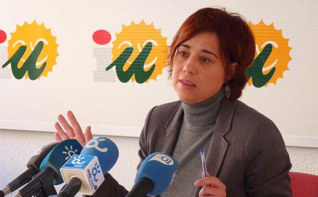 Dolores Quintana, parlamentaria IU, Andalucía, Málaga