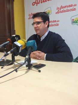 El candidato de IU a la Alcaldía de Córdoba, Pedro García