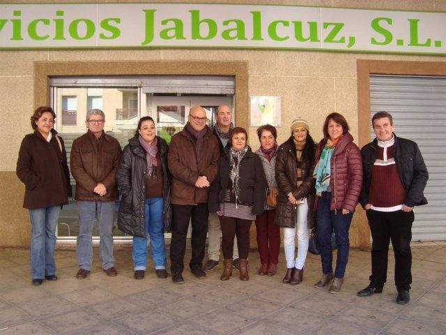 Visita del PSOE de Jaén a la empresa Multiservicios Jabalcuz