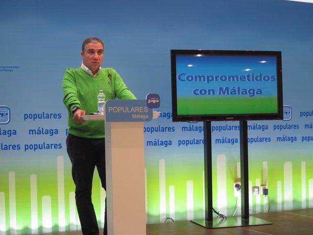 Elías Bendodo, presidente PP Málaga
