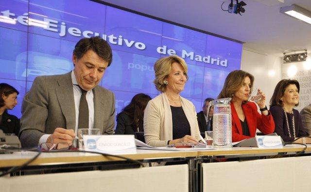 González, Aguirre y Botella en el primer Comité Ejecutivo abierto 100% a medios