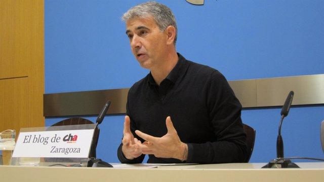 El portavoz de CHA en el Ayuntamiento de Zaragoza, Juan Martín