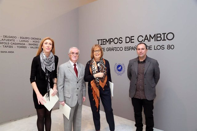 Presentación de la exposición sobre arte gráfico de los años ochenta