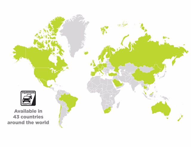 Países con TomTom Traffic