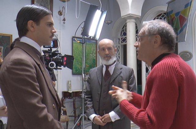 Rodaje de la película 'La Luz con el tiempo dentro'.