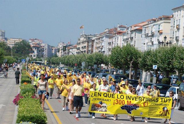 Protesta afectados por derribos (Archivo)