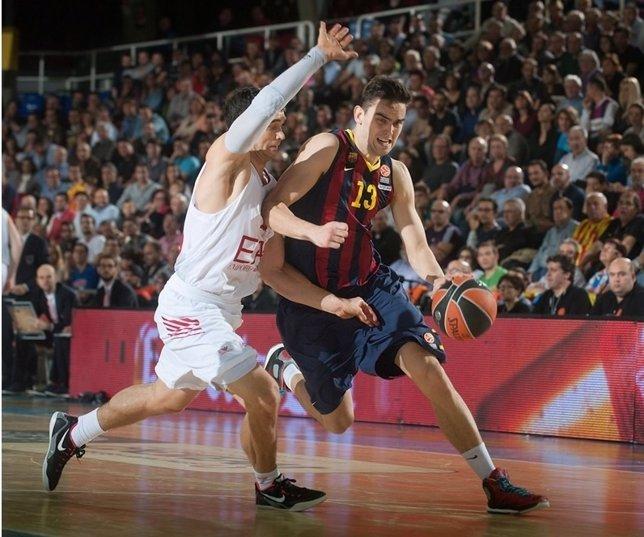 Tomas Satoransky durante un partido de la Euroliga de Basket.