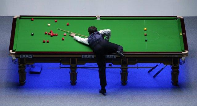 Un partido del Campeonato Euroasiático de Snooker