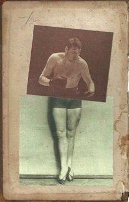 Collage de Març Rabal, que combina danza y boxeo