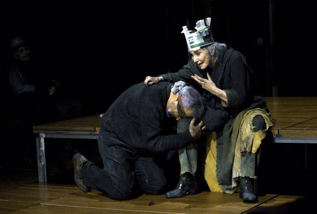 La actriz Núria Espert en la obra de 'El Rei Lear'
