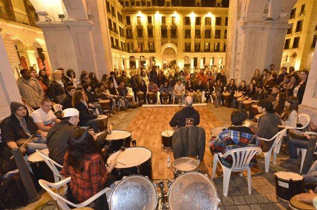 Fiesta de clausura de una ediciñon de 'La Noche es Joven'