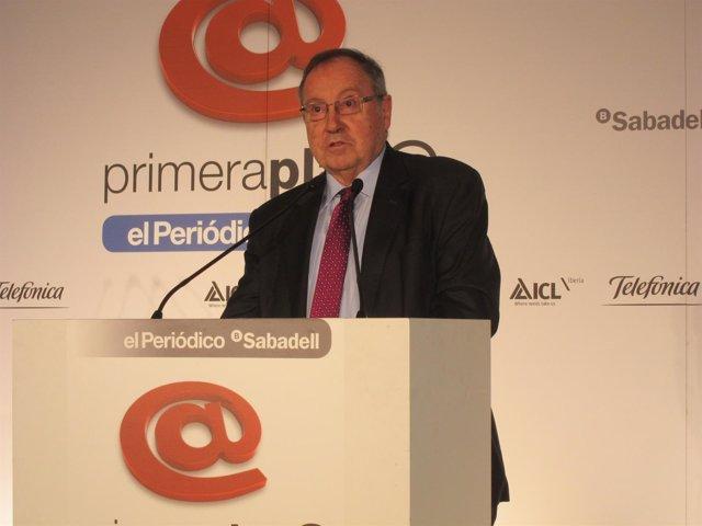 El presidente de la Cámara de España, Josep Lluís Bonet.