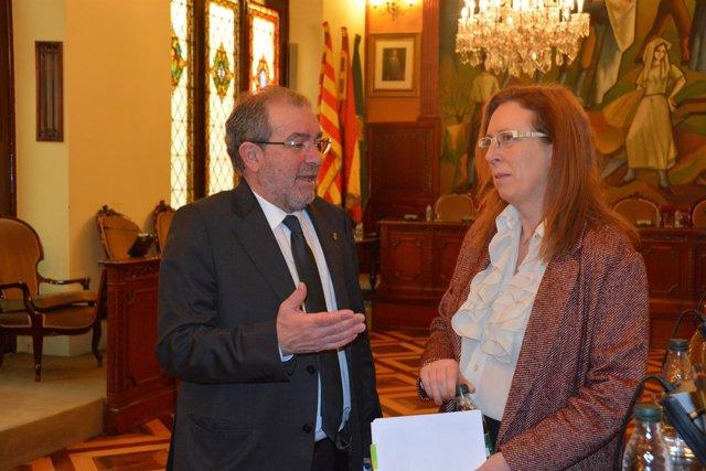Pleno de enero de la Diputación de Lleida, con su presidente Joan Reñé