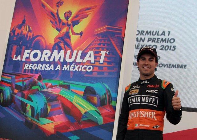 Sergio Pérez, feliz de correr de nuevo en México